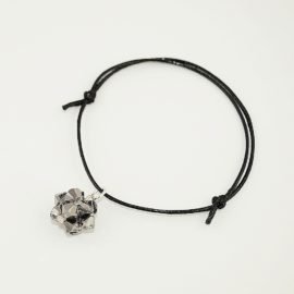 Czarna bransoletka z kulką CSN