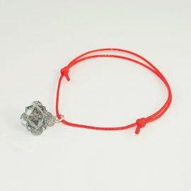 Czerwona bransoletka z kulką BDAB