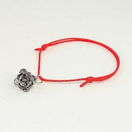 Czerwona bransoletka z kulką CSN