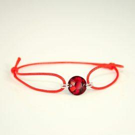 Czerwona bransoletka SI