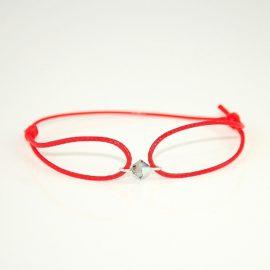 Czerwona bransoletka z biconem BG