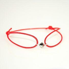 Czerwona bransoletka z biconem CSN