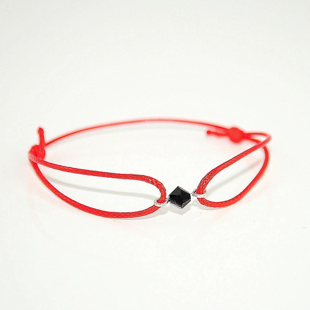 Czerwona bransoletka z biconem JH