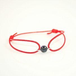 Czerwona bransoletka z perłą G