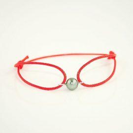 Czerwona bransoletka z perłą MZ