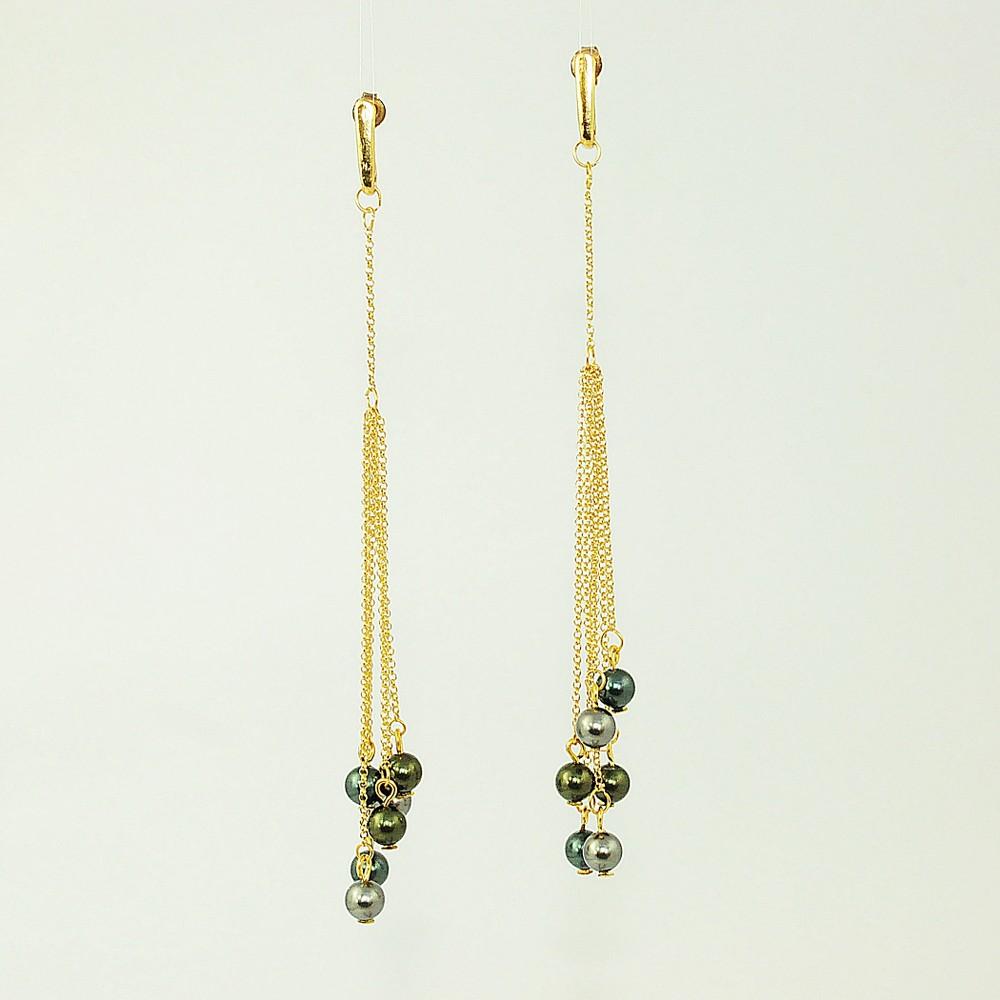 Kolczyki pozłacane z perłami Swarovskiego