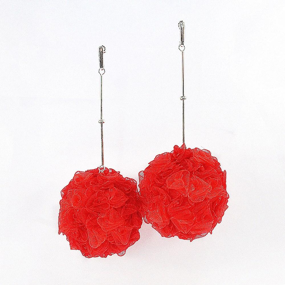 Kolczyki czerwone kule