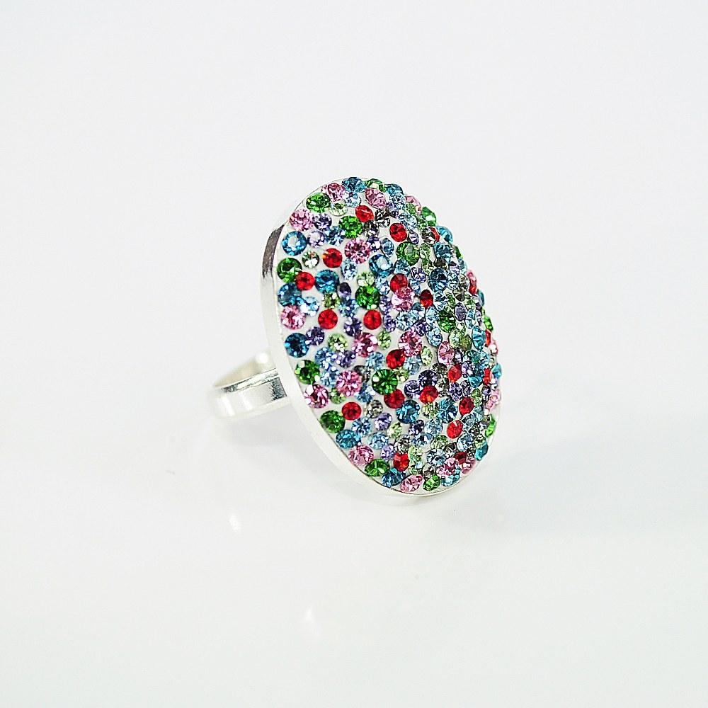 Owalny pierścionek ze srebra