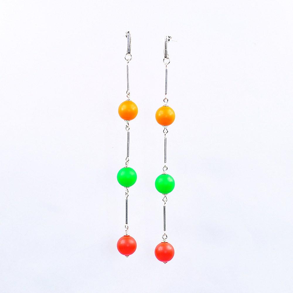Kolczyki mix z nenowymi perłami Swarovskiego