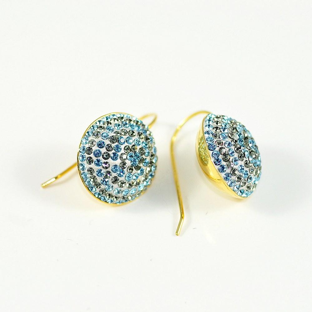 Okrągłe kolczyki z kryształami Swarovskiego