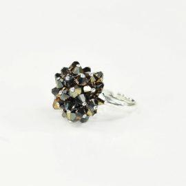 Pierścionek srebrny z kryształami Swarovskiego