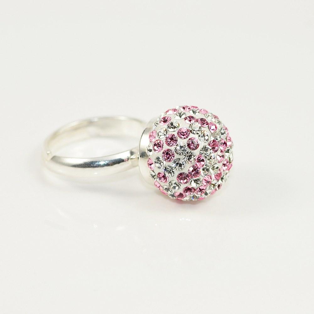 Pierścionek kulka LRC z kryształami Swarovskiego - booart.pl 1e57c11f69e