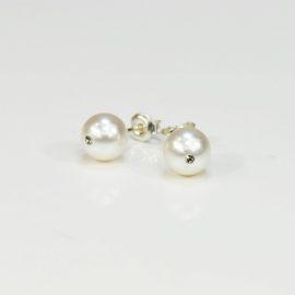 Kolczyki z białą perłą C 8,0