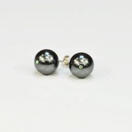 Kolczyki z czarną perłą P