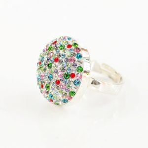 Okrągły pierścionek ze srebra