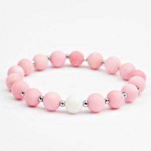 Bransoletka Pink and White urocza