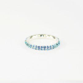 Obrączka z kryształami Swarovskiego Aquamarine