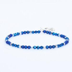 Bransoletka Helio No1 - niebiesko- srebrna, urocza